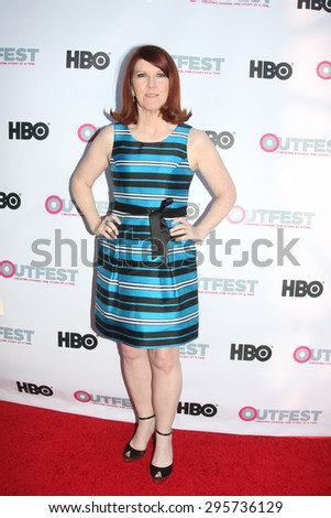 """LOS ANGELES - JUL 11:  Kate Flannery at the """"Tab Hunter Confidential"""" at Outfest at the Directors Guild of America on July 11, 2015 in Los Angeles, CA - stock photo"""