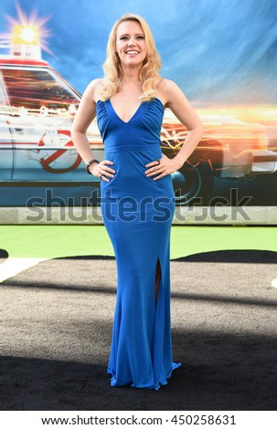 "LOS ANGELES - JUL 9:  Kate McKinnon arrives to the ""Ghostbusters"" Los Angeles Premiere on July 09, 2016 in Hollywood, CA.                - stock photo"