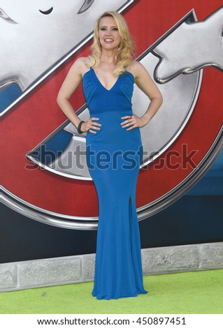 "LOS ANGELES - JUL 9:  Kate McKinnon arrives to the ""Ghostbusters"" World Premiere  on July 9, 2016 in Hollywood, CA                 - stock photo"