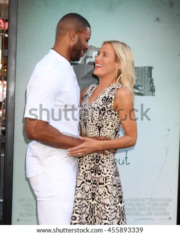 "LOS ANGELES - JUL 19:  Kerry Rhodes, Nicky Whelan at the ""Lights Out"" Los Angeles Premiere at the TCL Chinese Theater IMAX on July 19, 2016 in Los Angeles, CA - stock photo"