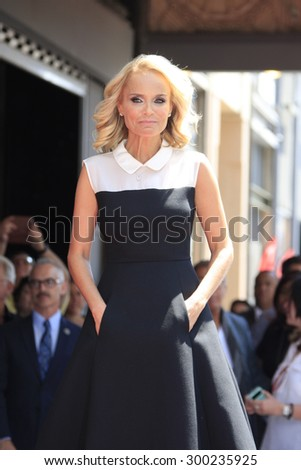 LOS ANGELES - JUL 24:  Kristin Chenoweth at the Kristin Chenoweth Hollywood Walk of Fame Star Ceremony at the Hollywood Blvd on July 24, 2015 in Los Angeles, CA - stock photo