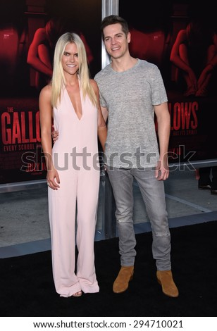 "LOS ANGELES - JUL 07:  Lauren Scruggs & Jason Kennedy arrives to the ""The Gallows"" Los Angeles Premiere  on July 07, 2015 in Hollywood, CA                 - stock photo"