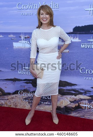 LOS ANGELES - JUL 27:  Lee Purcell arrives to the Hallmark Channel and Hallmark Movies and Mysteries Summer 2016 TCA Press Tour Event  on July 27, 2016 in Beverly Hills, CA                 - stock photo