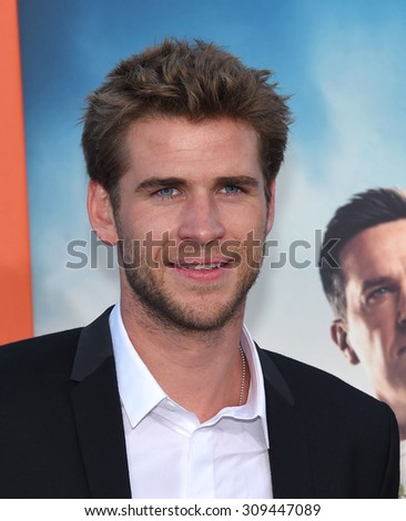 """LOS ANGELES - JUL 27:  Liam Hemsworth arrives to the """"Vacation"""" Los Angeles Premiere  on July 27, 2015 in Westwood, CA                 - stock photo"""