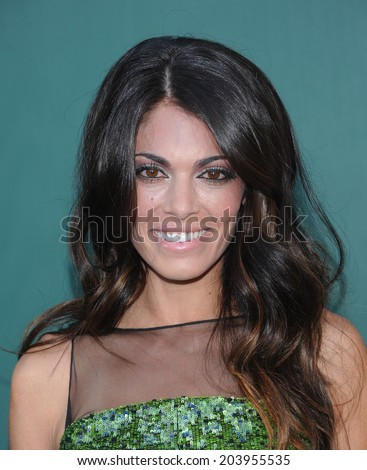 """LOS ANGELES - JUL 08:  Lindsay Hartley arrives to the Hallmark's """"Northpole Christmas Celebration""""  on July 08, 2014 in Beverly Hills, CA                 - stock photo"""