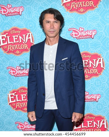 """LOS ANGELES - JUL 16:  Lou Diamond Phillips arrives to the Disney Channel's """"Elena of Avalor"""" Los Angeles Premiere on July 16, 2016 in Beverly Hills, CA                 - stock photo"""