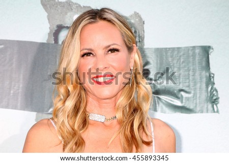 "LOS ANGELES - JUL 19:  Maria Bello at the ""Lights Out"" Los Angeles Premiere at the TCL Chinese Theater IMAX on July 19, 2016 in Los Angeles, CA - stock photo"