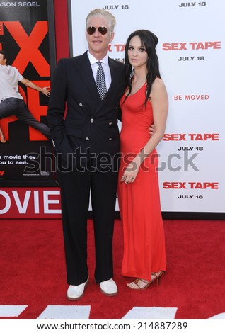 "LOS ANGELES - JUL 10:  Matthew Modine arrives to the ""Sex Tape"" World Premiere  on July 10, 2014 in Westwood, CA.                 - stock photo"
