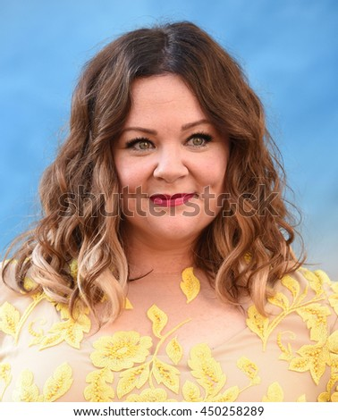 "LOS ANGELES - JUL 9:  Melissa McCarthy arrives to the ""Ghostbusters"" Los Angeles Premiere on July 09, 2016 in Hollywood, CA.                - stock photo"