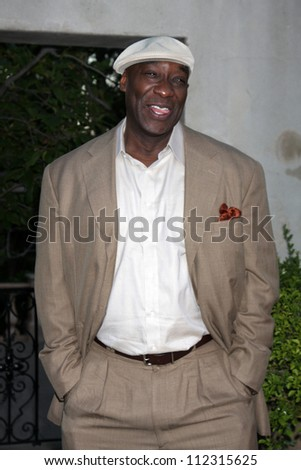 LOS ANGELES - JUL 24:  Michael Clarke Duncan arrives at  the 12th Annual HollyRod Foundation DesignCare Event at Ron Burkle's Green Acres Estate on July 24, 2010 in Beverly Hills, CA - stock photo