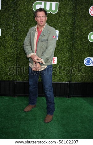 LOS ANGELES - JUL 28:  Michael Weatherly arrives at the 2010 CBS, The CW, Showtime Summer Press Tour Party  at The Tent Adjacent to Beverly Hilton Hotel on July28, 2010 in Beverly Hills, CA ...