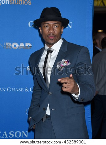 "LOS ANGELES - JUL 14:  Nick Cannon arrives to the ""GLEASON"" Los Angeles Premiere  on July 14, 2016 in Los Angeles, CA"