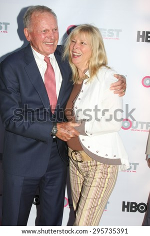 """LOS ANGELES - JUL 11:  Tab Hunter, Candy Clark at the """"Tab Hunter Confidential"""" at Outfest at the Directors Guild of America on July 11, 2015 in Los Angeles, CA - stock photo"""