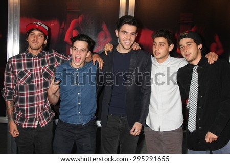 "LOS ANGELES - JUL 7:  The Janoskians at the ""The Gallows"" Premiere at the Hollywood High School on July 7, 2015 in Los Angeles, CA"