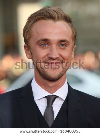 "LOS ANGELES - JUL 28:  TOM FELTON arrives to the ""Rise of the Planet of the Apes"" Los Angeles Premiere  on July 28, 2011 in Hollywood, CA"
