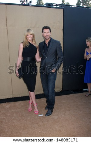 LOS ANGELES - JUL 29:  Toni Collette, Dylan McDermott arrives at the 2013 CBS TCA Summer Party at the private location on July 29, 2013 in Beverly Hills, CA
