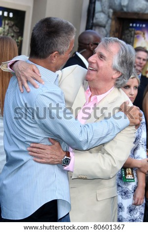 "LOS ANGELES - JUL 6:  Tony Danza, Henry Winkler arriving at the ""Zookeeper"" Premiere at Regency Village Theater  on July 6, 2011 in Westwood, CA"