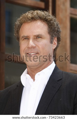 LOS ANGELES - JUL 29:  Will Ferrell arrives at a ceremony where Mark Wahlberg receives a star on the Hollywood Walk of Fame on July 29, 2010 in Los Angeles, California. - stock photo