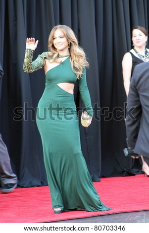 LOS ANGELES - JULY 9: Singer/actor Jennifer Lopez arriving at the Belasco Theatre July 9, 2011 for the reception for the Duke and Duchess of Cambridge Los Angeles, CA. - stock photo