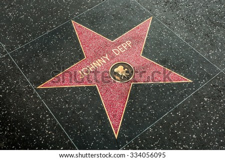 LOS ANGELES - JULY 2012: Star of Hollywood Walk of Fame on July 12, 2012 in Los Angeles. There are more than 2,400 five-pointed stars which attract about 10 million visitors annually.