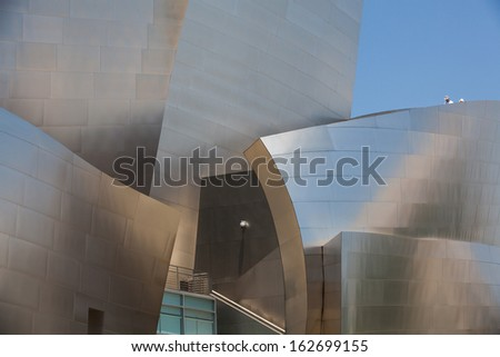 LOS ANGELES - JULY 2: Walt Disney Concert Hall in Los Angeles, CA on July 2, 2011. This building was designed by Frank Gehry and is a major component in the Los Angeles Music Center complex.