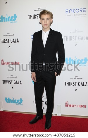 LOS ANGELES - JUN 13:  Aidan Alexander at the 7th Annual Thirst Gala at the Beverly Hilton Hotel on June 13, 2016 in Beverly Hills, CA - stock photo