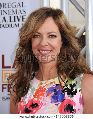 "LOS ANGELES - JUN 23:  Allison Janney arrives to the ""The Way Way Back"" Los Angeles Premiere  on June 23, 2013 in Los Angeles, CA"