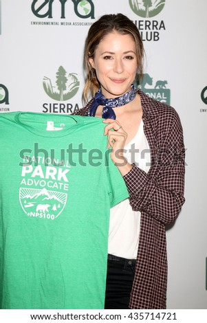 LOS ANGELES - JUN 11:  Amanda Crew at the Give Back Day to Celebrate National Park Service Centennial at the Franklin Canyon Park on June 11, 2016 in Beverly Hills, CA - stock photo