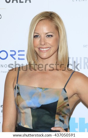 LOS ANGELES - JUN 13:  Amy Paffrath at the 7th Annual Thirst Gala at the Beverly Hilton Hotel on June 13, 2016 in Beverly Hills, CA - stock photo