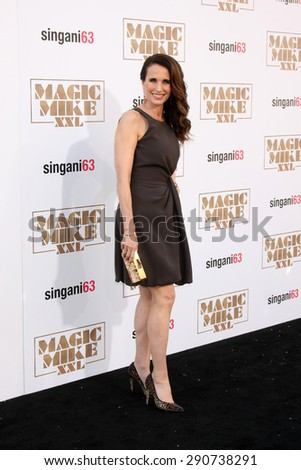"LOS ANGELES - JUN 25:  Andie MacDowell at the ""Magic Mike XXL"" Premiere at the TCL Chinese Theater on June 25, 2015 in Los Angeles, CA"