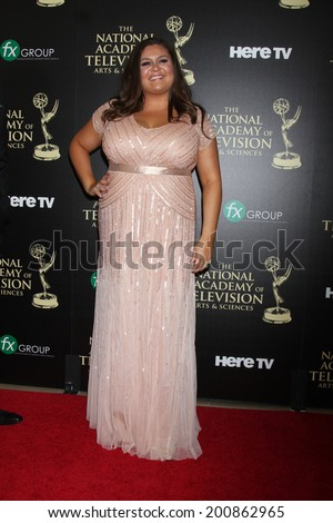 LOS ANGELES - JUN 22:  Angelica McDaniel at the 2014 Daytime Emmy Awards Arrivals at the Beverly Hilton Hotel on June 22, 2014 in Beverly Hills, CA - stock photo