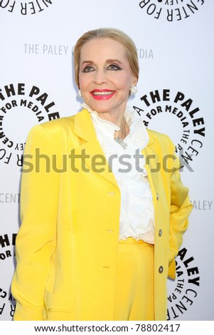 LOS ANGELES - JUN 7:  Anne Jeffreys arrives at the Debbie Reynolds Hollywood Memorabilia Collection Auction & Auction Preview at Paley Center For Media on June 7, 2011 in Beverly Hills, CA - stock photo