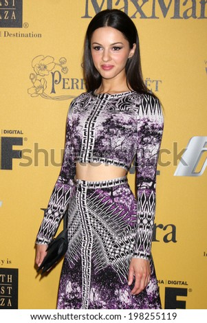 LOS ANGELES - JUN 11:  Annet Mahendru at the Women In Film 2014 Crystal + Lucy Awards at Century Plaza Hotel on June 11, 2014 in Beverly Hills, CA - stock photo