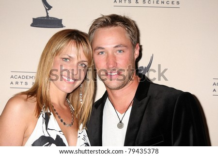 LOS ANGELES - JUN 16:  Arianne Zucker, Kyle Lowder arrive at the ATAS Daytime Emmy Nominee Reception at SLS Hotel at Beverly Hills on June 16, 2011 in Beverly Hills, CA - stock photo