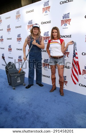 "LOS ANGELES - JUN 24:  Atmosphere at the ""Joe Dirt 2: Beautiful Loser"" Premiere at the Sony Studios on June 24, 2015 in Culver City, CA - stock photo"