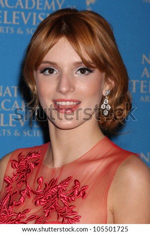 LOS ANGELES - JUN 17:  Bella Thorne arrives at the 2012 Daytime Creative Emmy Awards at Westin Bonaventure Hotel on June 17, 2012 in Los Angeles, CA - stock photo