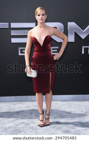 """LOS ANGELES - JUN 28:  Beth Behrs arrives to the """"Terminator Genisys"""" Los Angeles Premiere  on June 28, 2015 in Hollywood, CA                 - stock photo"""