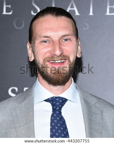 """LOS ANGELES - JUN 21:  Bill Tangradi arrives to the """"Free State of Jones"""" Hollywood Premiere  on June 21, 2016 in Hollywood, CA.                 - stock photo"""