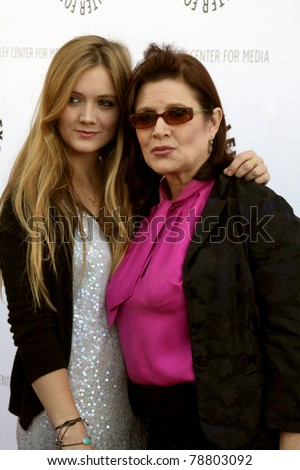 LOS ANGELES - JUN 7:  Billie Catherine Lourd (Daughter), Carrie Fisher arrive at the Debbie Reynolds Collection Auction Preview at Paley Center For Media on June 7, 2011 in Beverly Hills, CA - stock photo