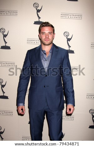 LOS ANGELES - JUN 16:  Billy Miller arrives at the Academy of Television Arts and Sciences Daytime Emmy Nominee Reception at SLS Hotel at Beverly Hills on June 16, 2011 in Beverly Hills, CA - stock photo