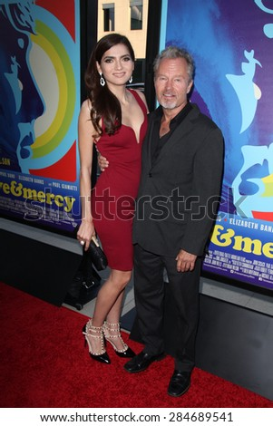 """LOS ANGELES - JUN 2:  Blanca Blanco, John Savage at the """"Love & Mercy"""" Los Angeles Premiere at the Academy of Motion Picture Arts & Sciences on June 2, 2015 in Los Angeles, CA - stock photo"""