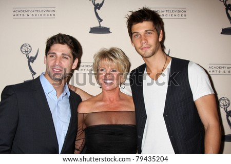 LOS ANGELES - JUN 16:  Bren Foster, Judi Evans, Casey Jon Deidrick arriving at the ATAS Daytime Emmy Nominee Reception at SLS Hotel at Beverly Hills on June 16, 2011 in Beverly Hills, CA - stock photo