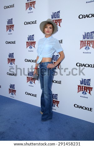 """LOS ANGELES - JUN 24:  Brittany Brousseau at the """"Joe Dirt 2: Beautiful Loser"""" Premiere at the Sony Studios on June 24, 2015 in Culver City, CA - stock photo"""