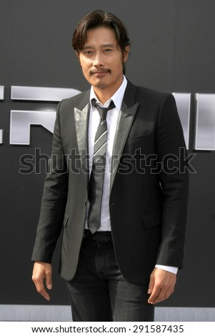 "LOS ANGELES - JUN 28:  Byung-hun Lee at the ""Terminator Genisys"" Los Angeles Premiere at the Dolby Theater on June 28, 2015 in Los Angeles, CA - stock photo"