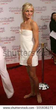 LOS ANGELES - JUN 18: Cameron Diaz at the premiere of 'Charlie's Angels: Full Throttle' on June 18, 2003 in Los Angeles, California - stock photo