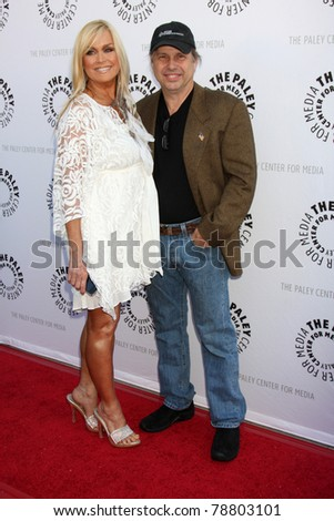 LOS ANGELES - JUN 7:  Catherine Hickland, Todd Fisher arrive at the Debbie Reynolds Collection Auction Preview at Paley Center For Media on June 7, 2011 in Beverly Hills, CA - stock photo