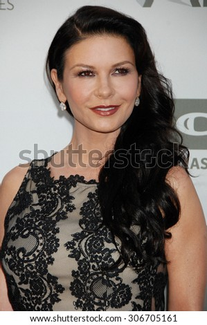 LOS ANGELES - JUN 5:  Catherine Zeta-Jones arrives at the AFI TRIBUTE TO JANE FONDA   on June 5, 2014 in Hollywood, CA                 - stock photo