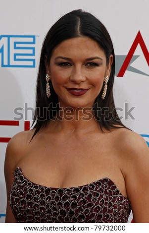 LOS ANGELES - JUN 11: Catherine Zeta Jones at the AFI Life Achievement Award: A Tribute to Michael Douglas held at Sony Studios in Culver City, Los Angeles, California on June 11, 2009. - stock photo