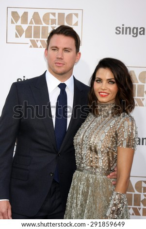 "LOS ANGELES - JUN 25:  Channing Tatum, Jenna Dewan-Tatum at the ""Magic Mike XXL"" Premiere at the TCL Chinese Theater on June 25, 2015 in Los Angeles, CA