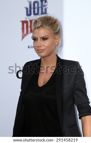 """LOS ANGELES - JUN 24:  Charlotte McKinney at the """"Joe Dirt 2: Beautiful Loser"""" Premiere at the Sony Studios on June 24, 2015 in Culver City, CA - stock photo"""